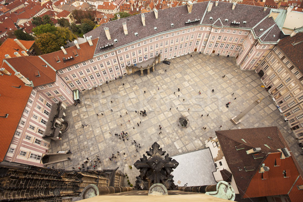 Prague Castle Courtyard View Stock photo © searagen