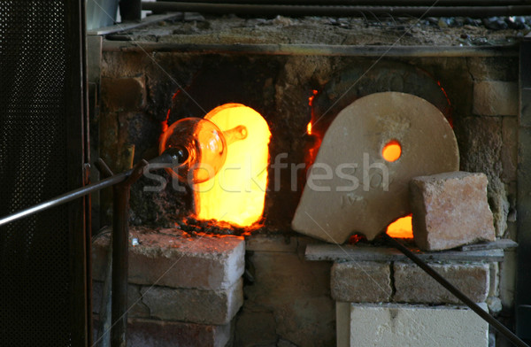 Blowing Glass and Furnace Stock photo © searagen