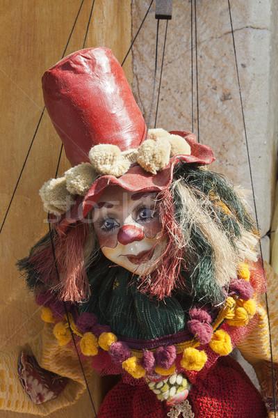 Grego fantoche seis alto vermelho bocado Foto stock © searagen