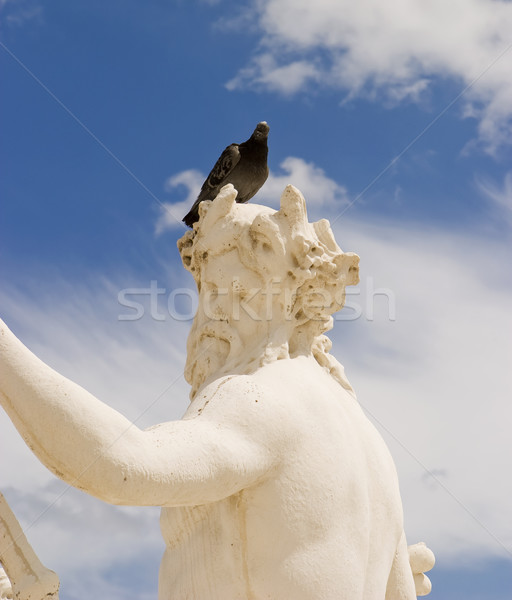 статуя голубь человека голову Париж облака Сток-фото © searagen