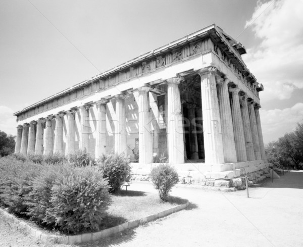 Templom öreg görög Athén ép feketefehér Stock fotó © searagen