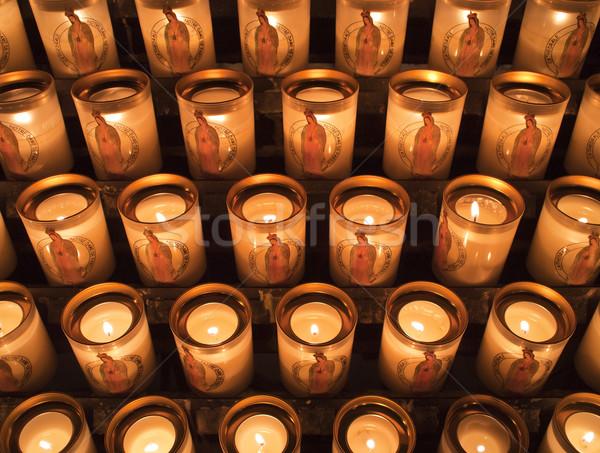 Candles At Notre Dame de Paris Stock photo © searagen