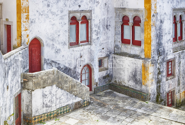 Sintra Courtyard With White Walls Stock photo © searagen