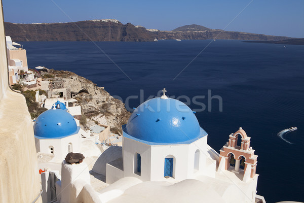 Church Domes On Santorini Stock photo © searagen