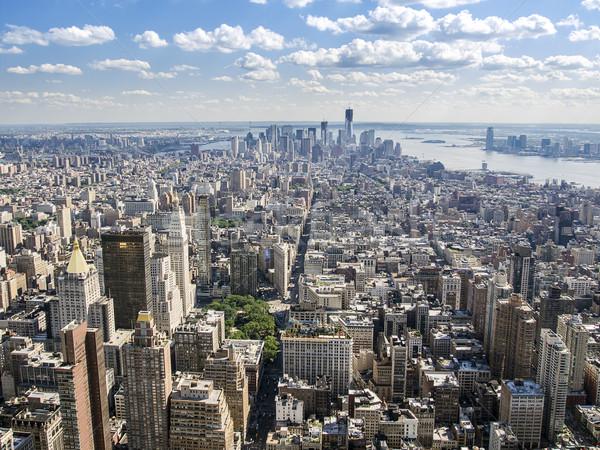 Falu belváros Manhattan kilátás dél Wall Street Stock fotó © searagen