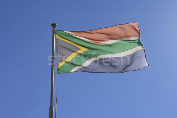 флаг ЮАР Flying ветер замок хорошие Сток-фото © searagen
