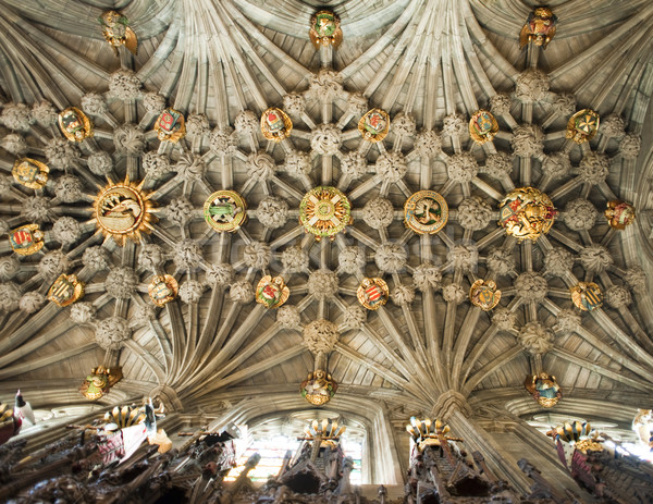 Ceiling of the Thistle Chapel Stock photo © searagen