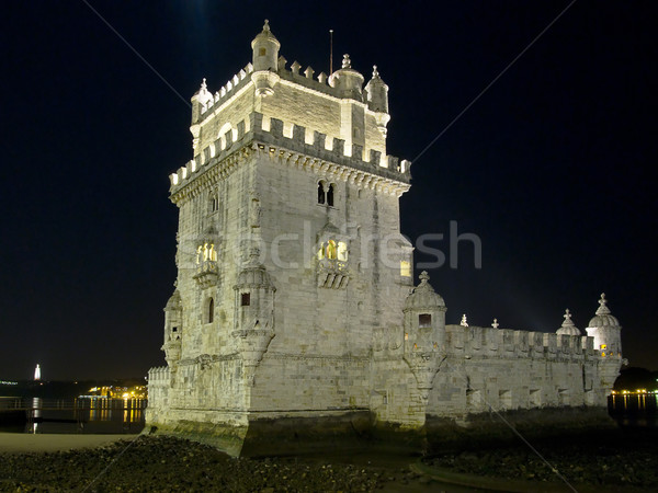 Tower of Belem At Night Stock photo © searagen
