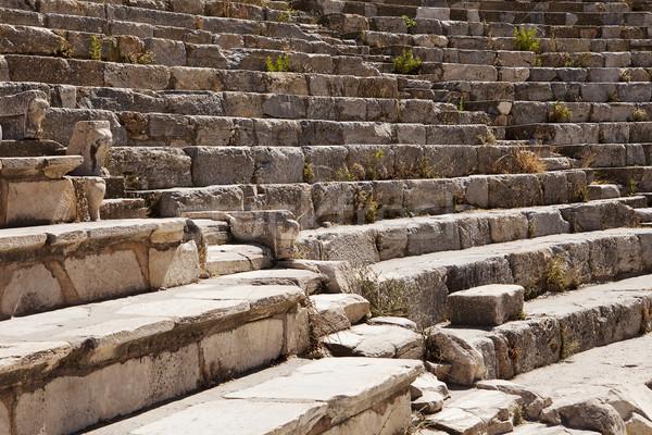 Roma tiyatro bölüm eski İzmir Türkiye Stok fotoğraf © searagen