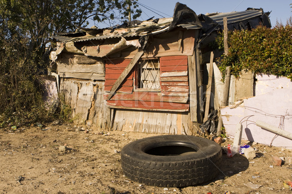 Güney afrika tipik ev Güney Afrika temsilci konut Stok fotoğraf © searagen