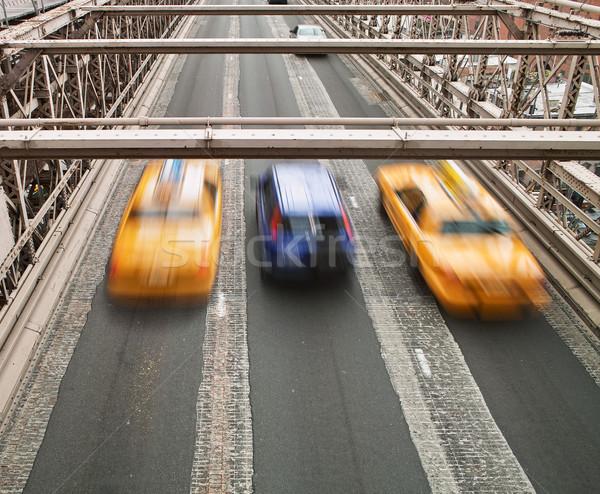 Taxis on Brooklyn Bridge Stock photo © searagen