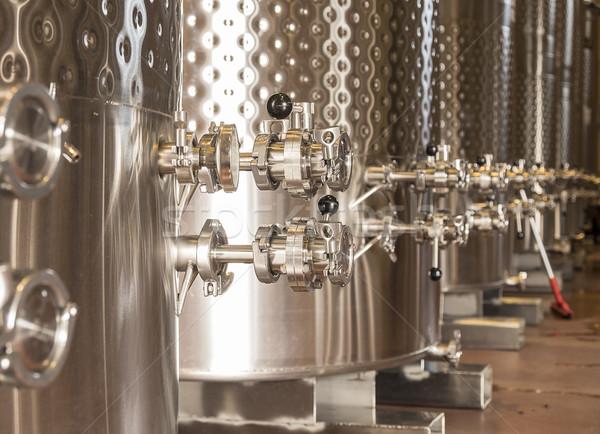 Vinícola fermentação usado controlar Foto stock © searagen