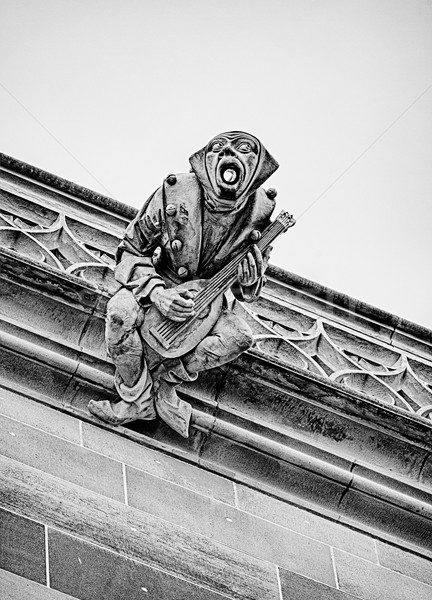 Gargoyle With Mandolin Stock photo © searagen