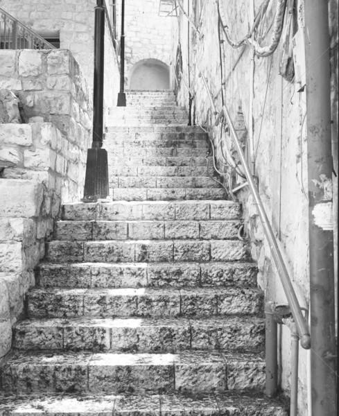 Escada vazio pedra histórico seção Israel Foto stock © searagen