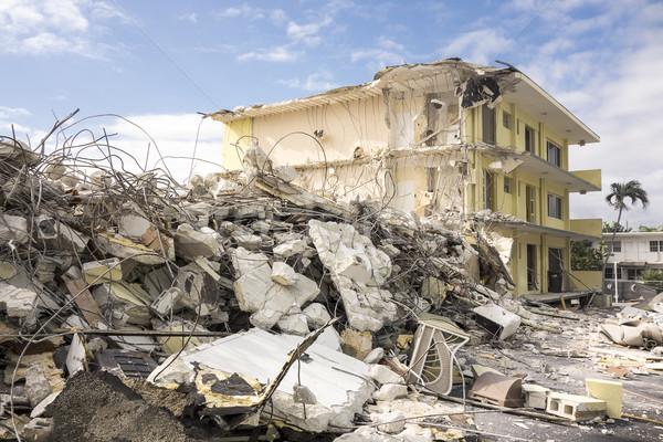 Otel yıkım sahne son ayakta bölüm Stok fotoğraf © searagen