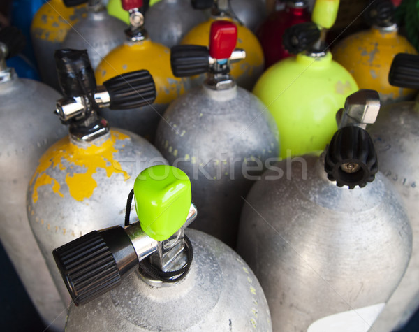Air Tanks Filled For A Dive Stock photo © searagen