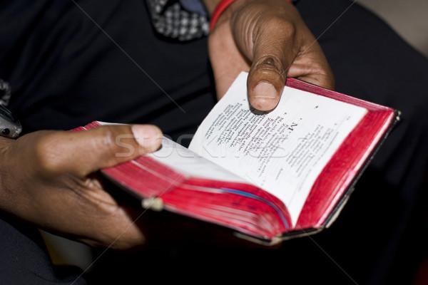Ima szolgáltatás könyv kettő kezek tart Stock fotó © searagen