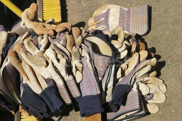 работу перчатки кожа большой землю Сток-фото © searagen