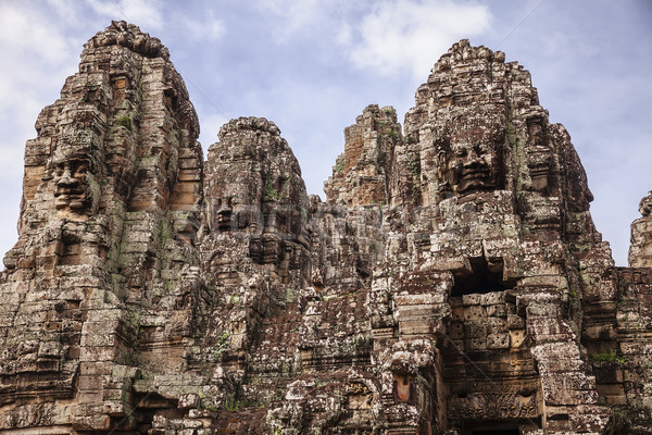 Temple angkor Cambodge visages une Photo stock © searagen