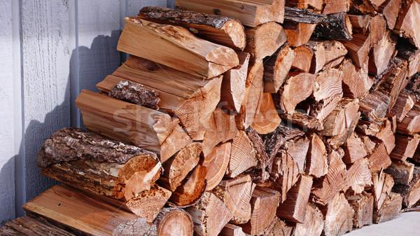 огня древесины дрова организованный Сток-фото © searagen