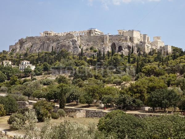 Acrópolis Atenas vista ruinas Partenón visible Foto stock © searagen