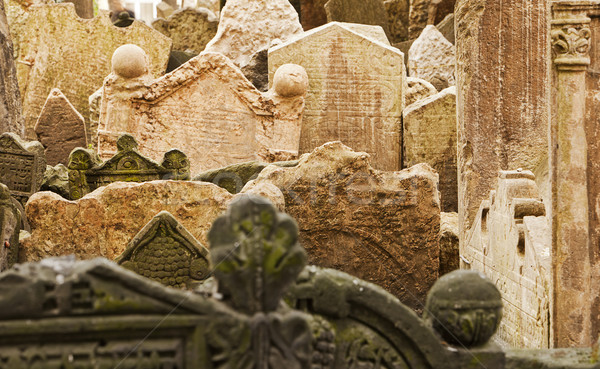Stock photo: Jewish Gravestones In Prague