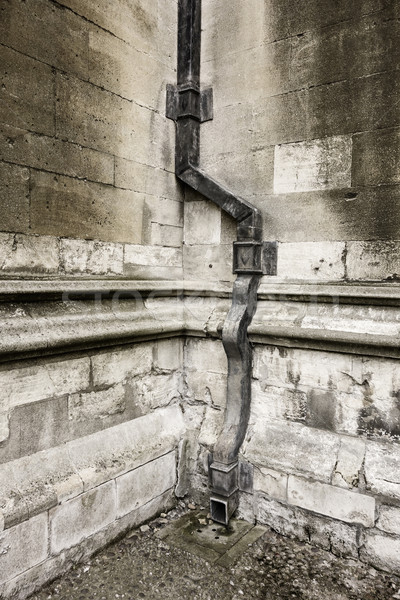 Drainpipe At The Corner Of Two Walls Stock photo © searagen
