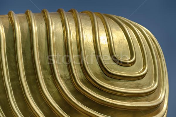 Altın diz detay mavi gökyüzü tapınak Stok fotoğraf © searagen