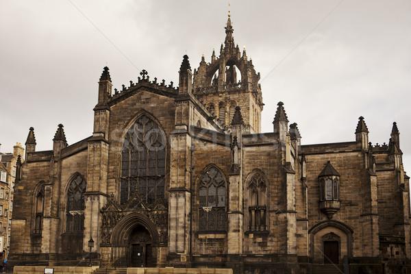 собора Эдинбург каменные фасад основной Сток-фото © searagen