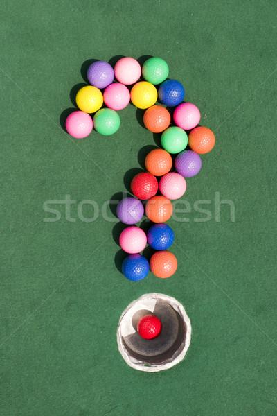 Golf kérdés szám színes golyók forma Stock fotó © searagen