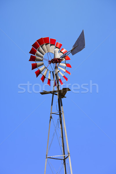 Windmill With Red Blades Stock photo © searagen