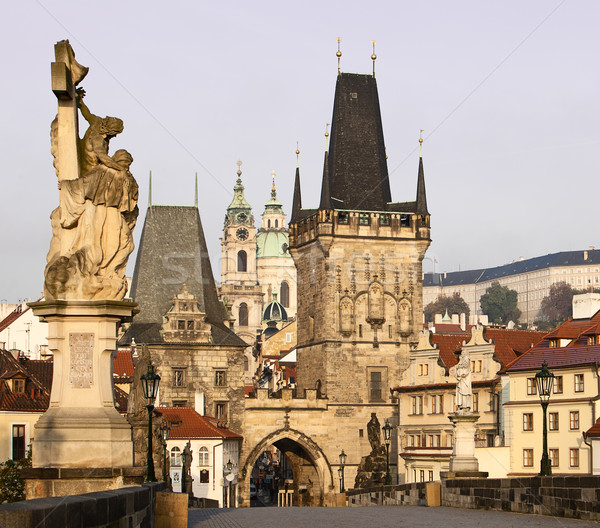 Charles Bridge and Lesser Town Stock photo © searagen