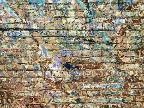 Paint On Brick Wall Background Stock photo © searagen