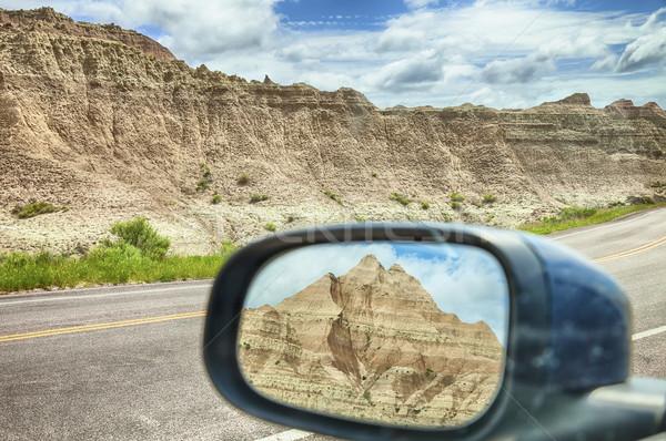 Mirror View Of Badlands Mountain Stock photo © searagen