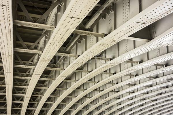 Brug Londen bouwkundig details geometrisch patroon ondersteuning Stockfoto © searagen