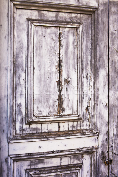 Cinza porta textura pormenor ver velho Foto stock © searagen