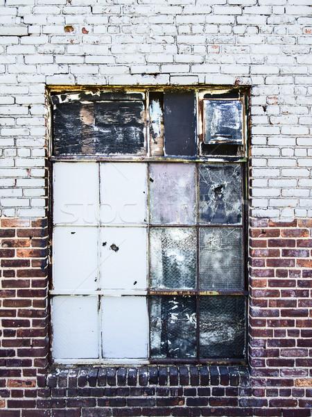 Gritty Warehouse Window Stock photo © searagen