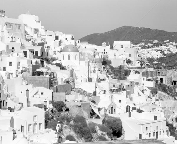 Oia Cityscape On Santorini Stock photo © searagen