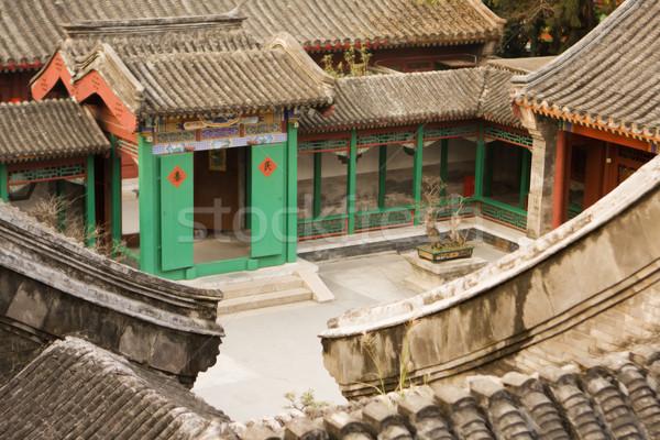 Chinese Village Courtyard Stock photo © searagen