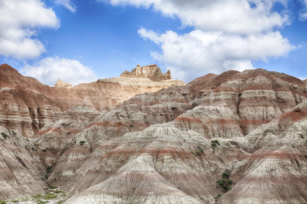 Hills In South Dakota Badlands Stock photo © searagen
