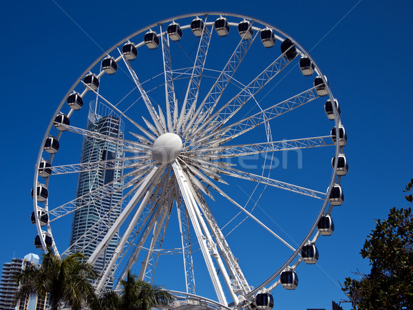 White Ferris Wheel Stock photo © searagen