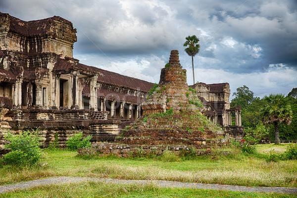 Angkor Wat hát Kambodzsa temetés több használt Stock fotó © searagen