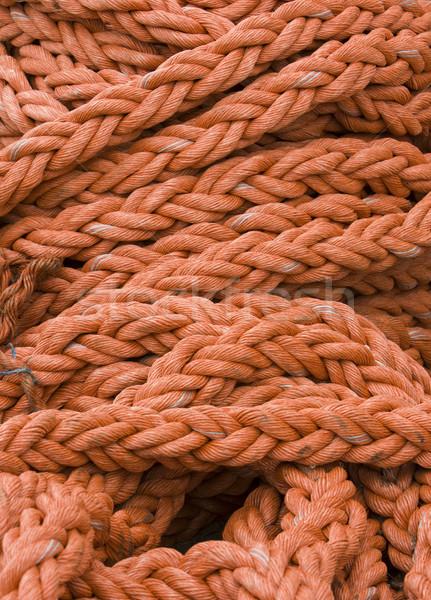 оранжевый веревку вместе док Сток-фото © searagen