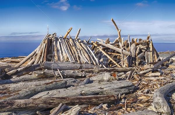 Longo casa praia abrigo áspero fora Foto stock © searagen