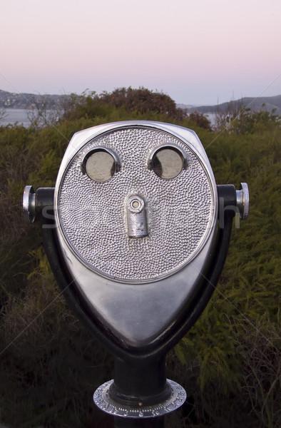 Telescópio cara observação ponto golden gate parque Foto stock © searagen