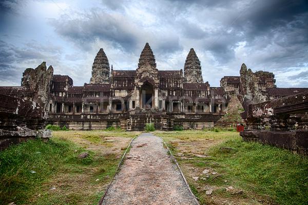 Cloudy Skies At Angkor Wat Stock photo © searagen