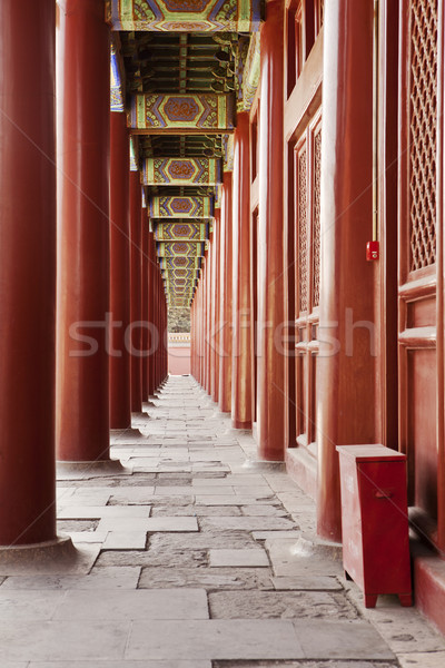 Taimiao Ancestral Temple Colonnade Stock photo © searagen