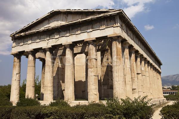 Templo Atenas parque edifício arquitetura religião Foto stock © searagen