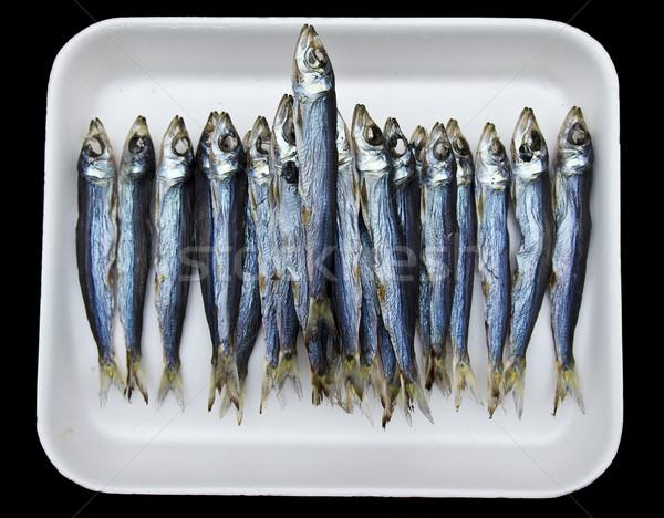 Tray of Anchovies At Market Stock photo © searagen