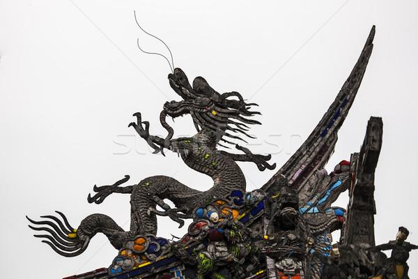 Black Chinese Dragon Stock photo © searagen
